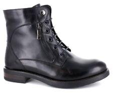 Zapatos Botas Militares Mujer GIGLIO FIORENTINO Piel Tacón Bajo 7701 con Negro