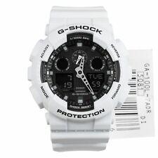 Ga-100l-7a White G-shock Casio Watches 200m Resin Band Analog Digital Light