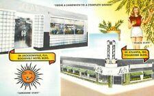Jacksonville Florida Leb's Restaurant roadside MWM Postcard 20-7070