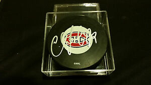 Andrei Markov autographed Official Montreal Canadiens Puck COA!