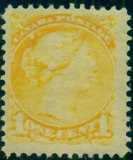 CANADA #35 1¢ yellow, og, LH, VF, Scott $47.50