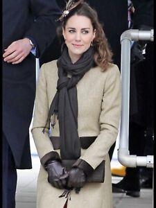 Dents Brown Leather Gloves ASO Kate Middleton