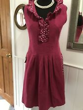Lovely Alice Collins Linen Mix Pink Special Occasion Dress Size 12