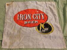 Iron City Beer - Golf Towel - Bar Towel - White.Used
