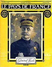 Portrait Général Ferdinand Foch Maréchal de France Académie Française 1915 WWI