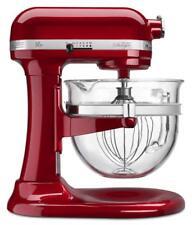 KitchenAid 6-Qt Professional 600 Design Series Glass Bowl - Candy Apple Red