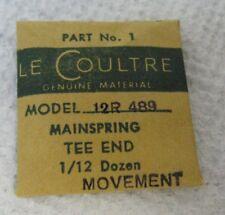 "LE COULTRE PART No 1 ORIGINAL GENUINE MAINSPRING ""MOVEMENT"" TEE END NOS 489 12 R"
