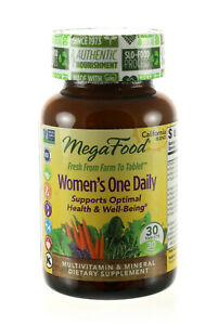 MEGAFOOD WOMEN S ONE DAILY 30 TABLETS DAIRY-FREE, GLUTE-FREE, KOSHER - EXP 12/20