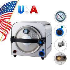 USPS Dental Steam Autoclave Sterilizer Medical Sterilization Lab Equipment 14L