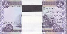 IRAQ 50 DINAR 2003 P-90 LOT BUNDLE OF X100 UNC NOTES */*