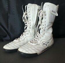 Vtg Roos KangaRoos White Leather Mambo High Top Sneakers Sz 9 Pocket Fun