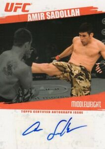 Amir Sadollah 2009 Topps UFC Round 2 Autograph Card