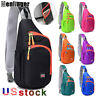 Men Women Cycle Chest Pack Travel Sports Sling Backpack  Crossbody Shoulder Bag