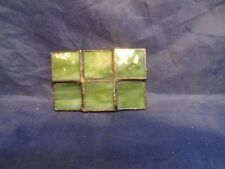 VINTAGE 1970s **STAINED GLASS ART PANELS**  BELT BUCKLE