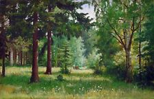 Oil Shishkin Ivan Ivanovich Russia artist - Children in the woods Hand painted