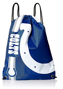 Indianapolis Colts NFL Big Logo Side Stripe Drawstring Backpack Backsack