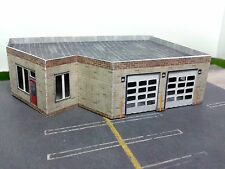 N Scale Building - Multi Purpose Building Police or Fire Station Etc (Paper Kit)