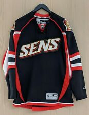 Reebok Ottawa Senators Alternate Black NHL Hockey Jersey Adult Large