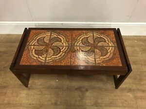 Mid Century Teak Tiled Topped Coffee Table