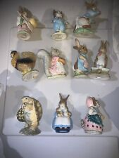 Lot of 10 Beatrix Potter Figurines Royal Doulton With Boxes Nice Shape No Chips