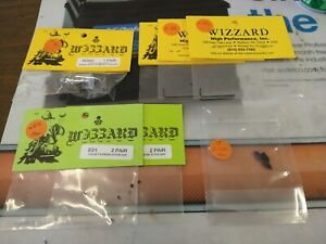 LOT OF WIZZARD H.O. SLOT CAR PARTS NEW CARDS MAGNETS GEARS