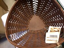Longaberger Deep Triangle Bowl - Rich Brown Stain - New