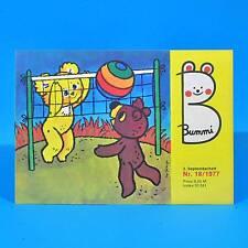 DDR Bummi 18/1977 Kinderzeitschrift 2. Septemberheft Geburtstag Kindergarten Q
