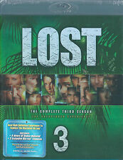 LOST Season 3 Blu-ray, REGION A, 8 hrs of BONUS Features, 6 Disc NEW & SEALED