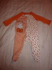 First Moments 3-6 Months HALLOWEEN PUMPKIN Zip-Up Sleep  Footie Pajamas Baby K7