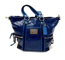 Coach Poppy Glam Convertible Shoulder Tote/Hand Bag Blue Liquid Gloss