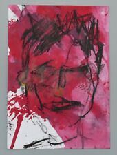 More details for mm039 portrait in red mystery masterpieces art auction postcard 15 x10.5cm