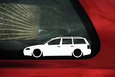 2x Low car outline stickers - for VW Passat B5.5 (B5 facelift) estate lowered