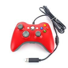 Red Controller: Wired USB Gamepad for Microsoft Xbox 360