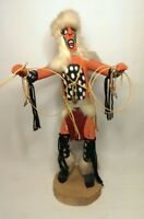 """AUTHENTIC NATIVE AMERICAN NAVAJO KACHINA DOLL HOOP DANCER 20"""" SIGNED NELSON"""