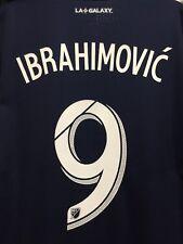 adidas la galaxy jersey Authentic Jersey 2019 #9 Ibrahimovic Size Medium Only