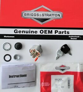 NEW KEY SWITCH BRIGGS AND STRATTON ENGINES MTD w B /& S ENGINE MFG # SCAG 48798