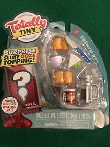 Totally Tiny French Breakfast Surprise Slimy Ooze Topping 9 Pieces Mini Food NIB