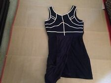 MOSSMAN Womens Dress NEW 12 14 BNWT Navy Blue We Never Change Clubbing Party