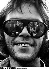 Poster NEIL YOUNG - Glasses Oakland 1974  ca60x85cm   NEU 14755