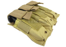 TAN Triple MOLLE PALS Police SWAT Pistol Magazine Pouch Holster M9 1911 9mm 45