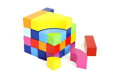GOKI Bausteine Farbwürfel 24 Steine Puzzle Legespiel bunte Bauklötze Regenbogen