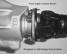 Ford Axle Propshaft To English Diff Flange Nuts & Bolts  Escort Anglia Cortina