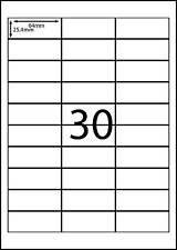 A4 Labels Avery Compatible Labels 100 sheets- 30 labels page **DL RANGE