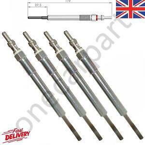 4 Diesel Heater Glow Plugs For Fiat Idea, Linea, Panda, 1.3 D Multijet 2006 on