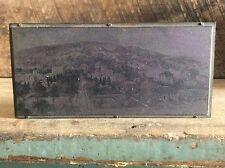 Vintage Metal Newspaper Ink Plate Type On Wood Block ,  Alfred University NY