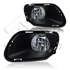 Fit 14-16 Jeep Cherokee Winjet OE Factory Fit Fog Light Bumper Kit Clear Lens