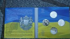 Ukraine - set 4 Coins 5 Hryven 2016 - 25 Years of Independence UNC Lemberg-Zp