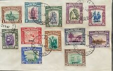 North Borneo 1945 BMA Overprint complete to 50c on cover tied Jesselton