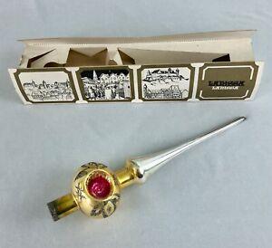 Vintage Lanissa Glass Christmas Tree Topper Indent West Germany Original Box