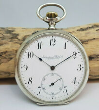 RARE LARGE OVERSIZE 57MM. IWC WATCH CO., SCHAFFHAUSEN SILVER POCKET WATCH